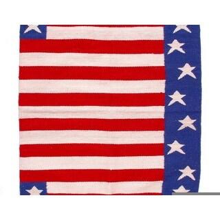 Tough-1 Saddle Blanket Stars Stripes 34 x 36 Red White Blue