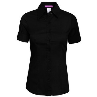 NE PEOPLE Womens Tailored SHORT Sleeve Button Down Shirt (More options available)