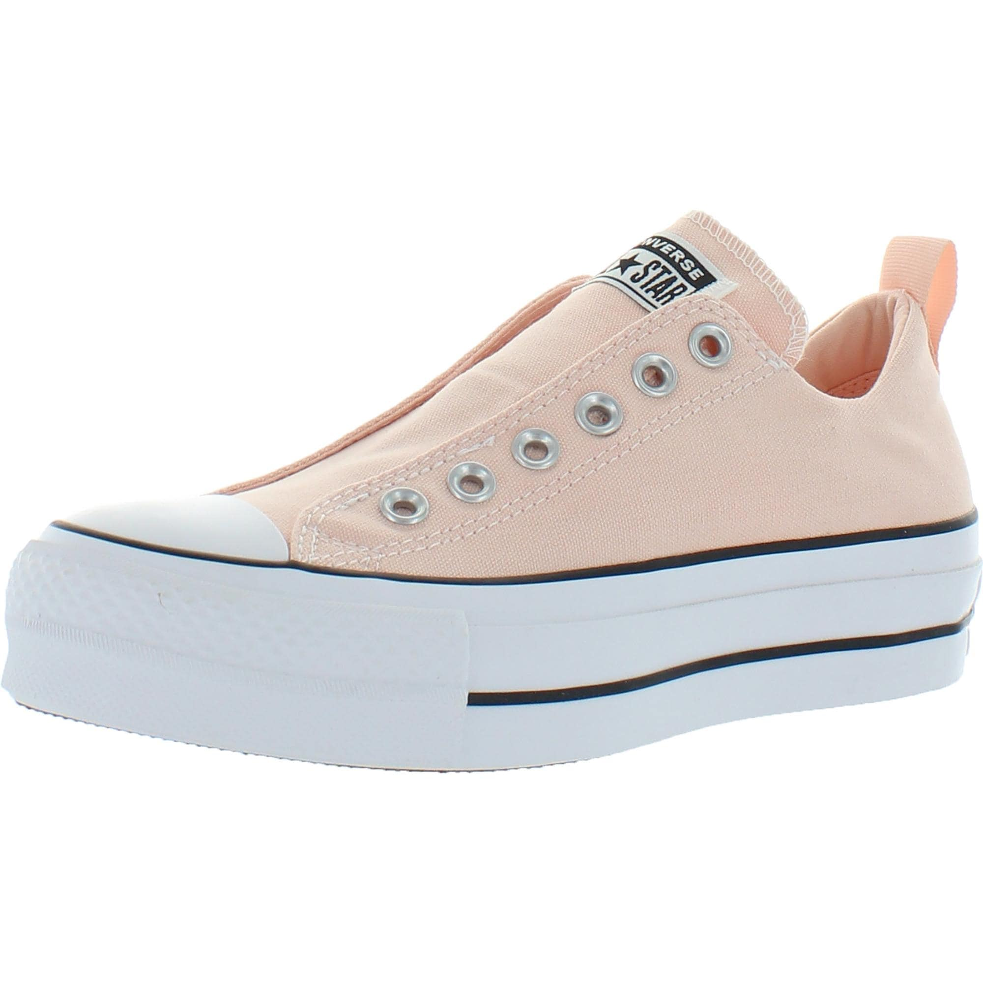 Playa reacción suficiente  Converse Chuck Taylor All Star Lift Slip Canvas Low Top Fashion Sneaker -  Washed Coral/White/Black - Overstock - 32339195
