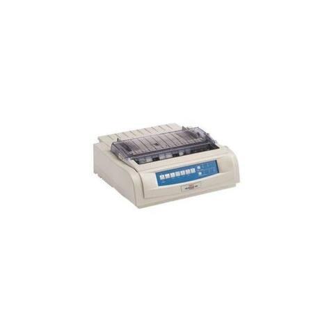 Okidata 62419003 ml491n - monochrome - dot-matrix - network - 24-pin printerhead - impact printer - White