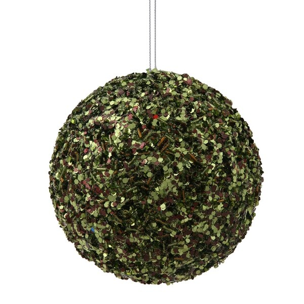 "4.75"" Moss Green Sparkle Sequin Ball"