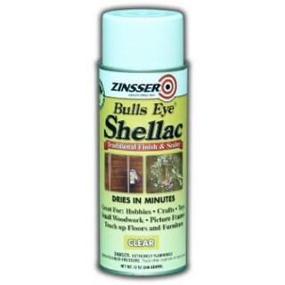 Zinsser 0408 Aerosol Shellac Sealer & Finish Clear, 12 Oz