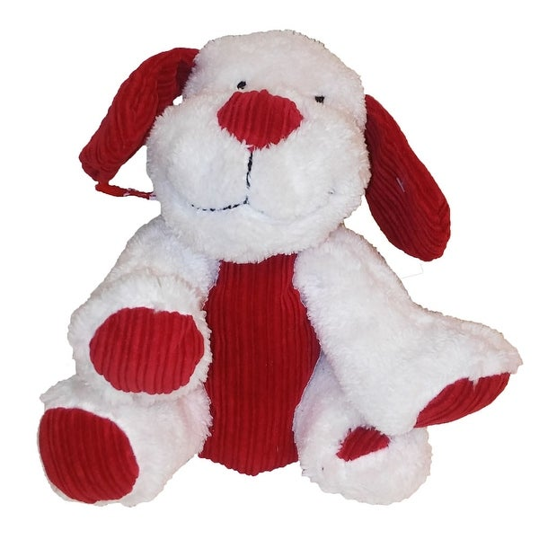 Animal Adventure Pick Me Up Pup Plush Valentine Sitting Dog White/Red