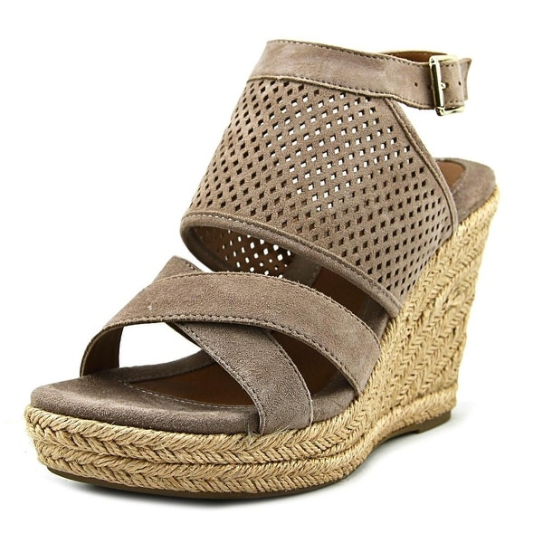 Eurosoft by Sofft Parisa Women Open Toe Suede Tan Wedge Sandal