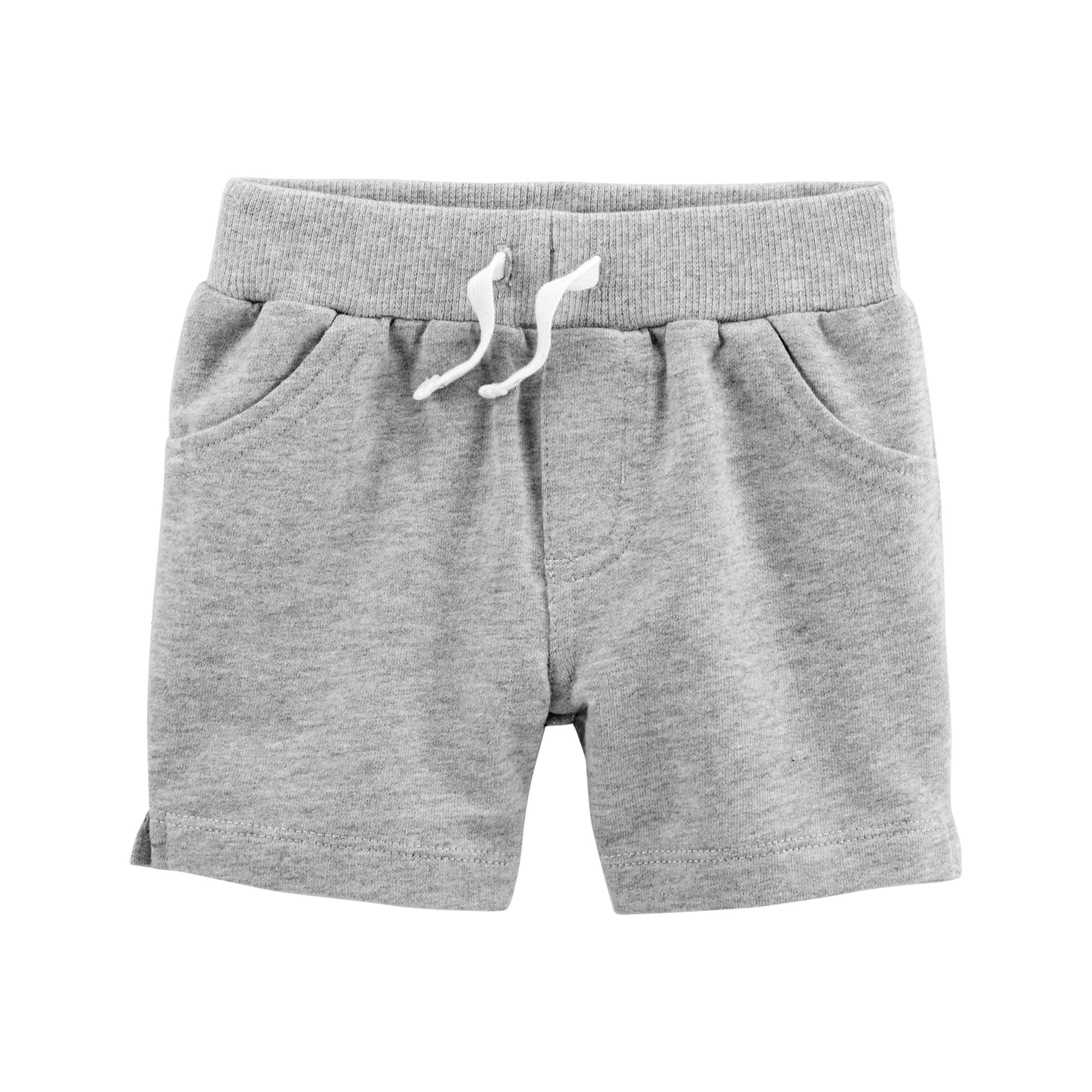Carters Boys Striped S//S Cotton Tee /& French Terry Short Set