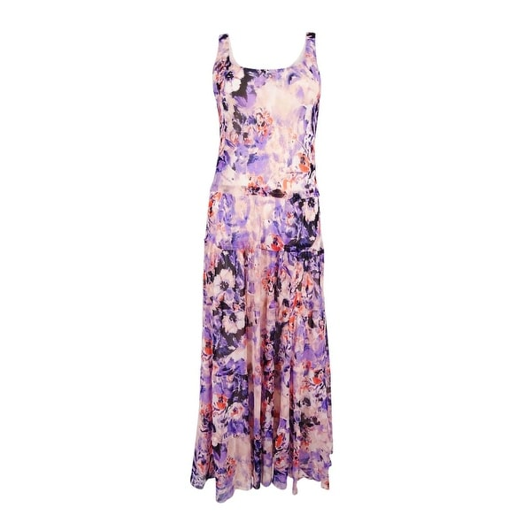 Nine West Women's Tiered Floral-Print Maxi Dress