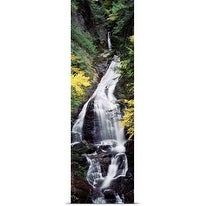Poster Print entitled Vermont, Stowe, CC Putnam State Forest, Moss Glen Falls, Waterfall in the forest