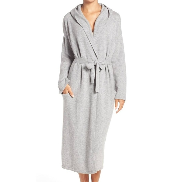 Shop Ugg NEW Gray Women\'s Size XL Robes Hooded Belted Cashmere Robe ...