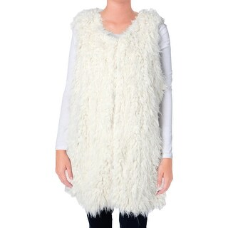 Two by Vince Camuto Womens Faux Fur Lined Outerwear Vest