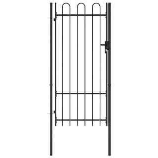 "Link to vidaXL Fence Gate Single Door with Arched Top Steel 39.4""x78.7"" Similar Items in Yard Care"