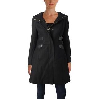 Via Spiga Womens Petites Midi Coat Winter Wool Blend