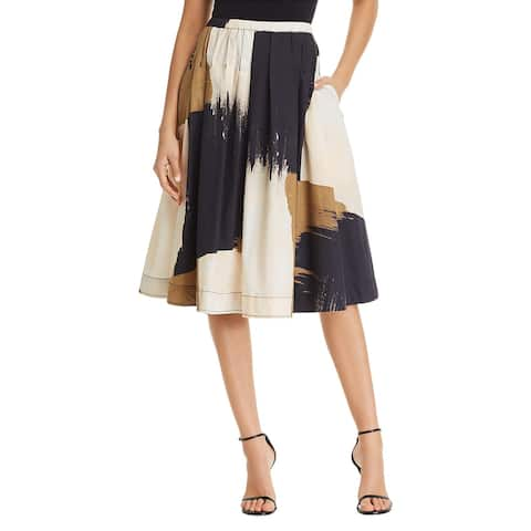 Donna Karan Womens A-Line Skirt Cotton Pleated - XL