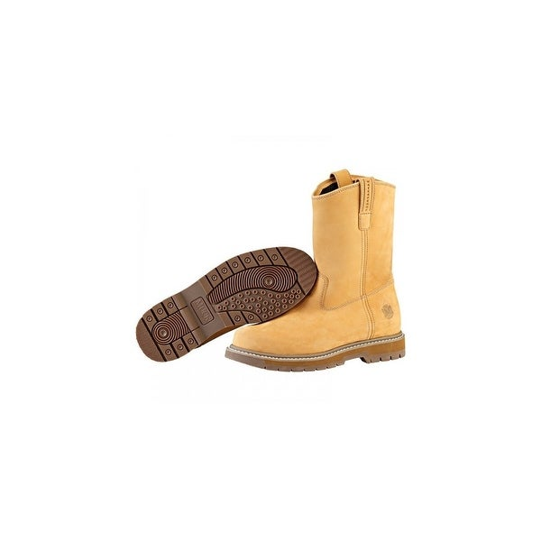 Muck Boot's Wellie Men's Wheat Work Boot w/ Breathable Airmesh Lining - Size 14