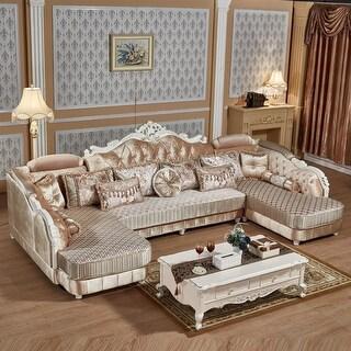 Luxury Design european elegance sectional fabric sofa