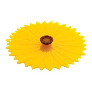 """Charles Viancin 1104 Small Sunflower Silicone Lid, 6"""""""