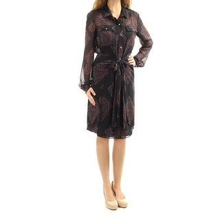 RACHEL ROY $139 Womens New 1495 Navy Printed W/ Slip Shirt Dress Dress 0 B+B