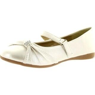 Little Angel Girls Kelly-664E Dress Casual Flats Shoes - Ivory
