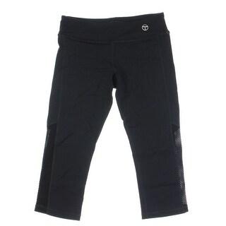 Trina Turk Womens Quick Dry Mesh Inset Capri Pants - S