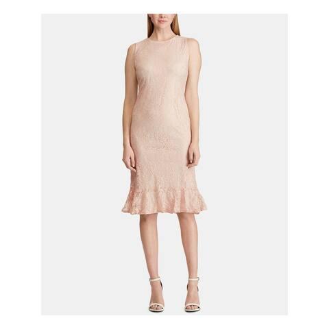 AMERICAN LIVING Pink Sleeveless Midi Sheath Dress Size 8