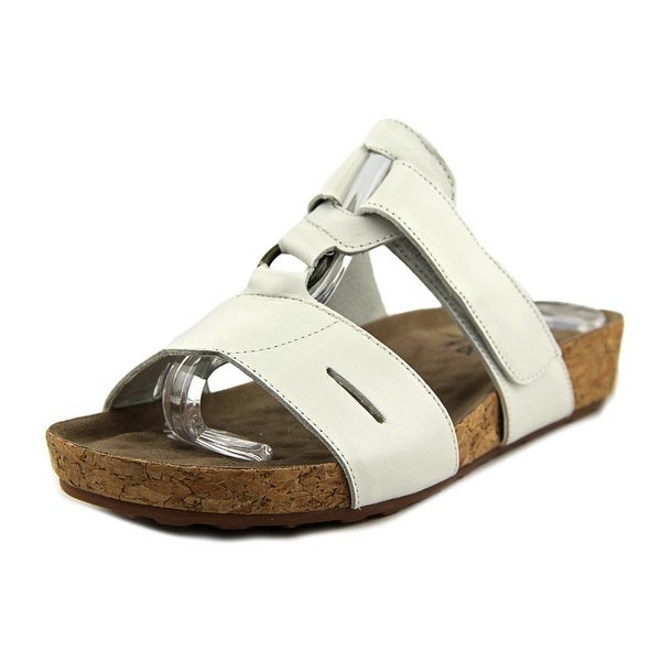 Walking Cradles Penny Women Open Toe Leather White Sandals
