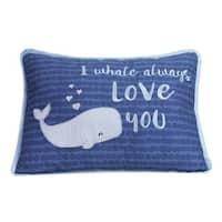 Lambs & Ivy Blue Oceania Decorative Pillow