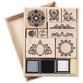 Martha Stewart Stamp & Ink Set-Flourish