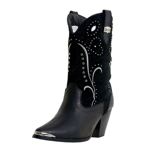 Dingo Fashion Boots Womens Ava Rivet Studded Suede Black DI 587