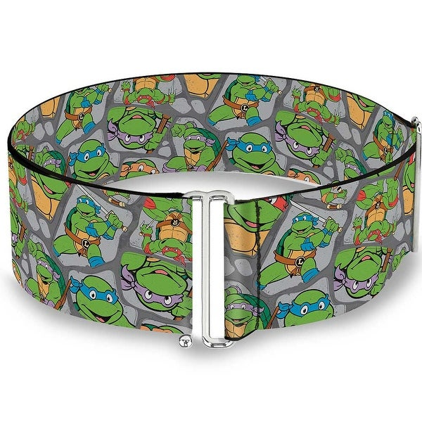Classic Tmnt Expression & Pose Turtle Shell Collage Lavender Cinch Waist Sinch Waist Belt ONE SIZE