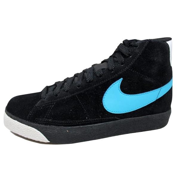Nike Men's Blazer High Black/Vivid Blue-White 316664-041