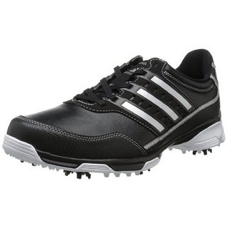 Adidas Mens Golflite Traxion Faux Leather Signature Golf Shoes - 9 wide (e)
