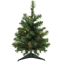 "18"" Pre-Lit LED Natural Two-Tone Pine Artificial Christmas Tree - Clear Lights"