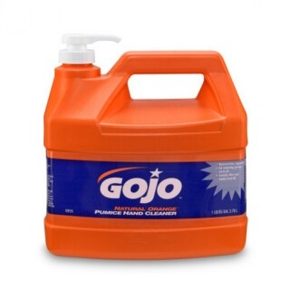Gojo 0955-02 Natural Orange Pumice Hand Cleaner w/ Pump Dispenser, 1-Gal