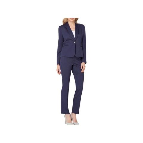 Tahari ASL Womens Petites Pant Suit Shawl Collar Twill - 2p