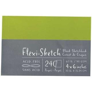 "Global Art - Flexi-Sketch Sketch Book - 60 lb. - 120 Sheet - 12"" x 9"" - Fern (Portrait)"