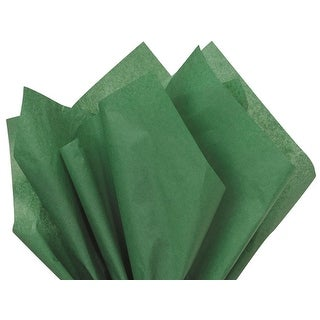 """Pack Of 480, Solid Holiday Green Tissue Paper 15 X 20"""" Sheet Half Ream Made From Post Industrial Recycled Fibers Made In Usa"""