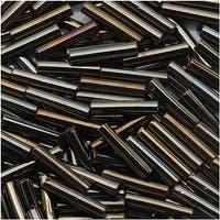 Toho Bugle Tube Beads Size 3 2x9mm Metallic Iris Brown 10 Grams
