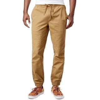 American Rag NEW Beige Mens Size XL Drawstring Moto Jogger Pants