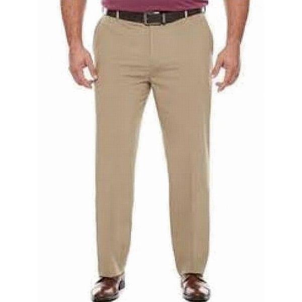 0449890c10fb0 Van Heusen Beige Khaki Mens Size 38X32 Flex Flat-Front Pants