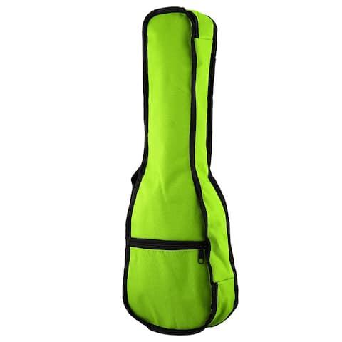 Single Shoulder Backpack Cover Concert Ukulele Soft Case Uke Padded Bag Green