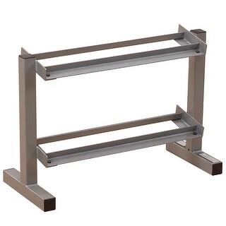 Powerline 32-Inch 2-Tier Dumbbell Rack - metal