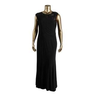 MSK Womens Metallic Prom Evening Dress