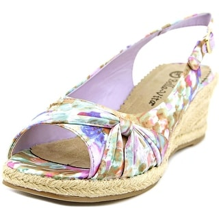 Bella Vita Sangria Too Women WW Open Toe Synthetic Multi Color Wedge Heel