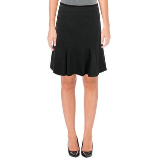 Calvin Klein Womens Petites Flounce Skirt Knee-Length Casual