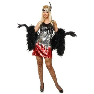 Red/Silver/Black Sequin Flapper Costume