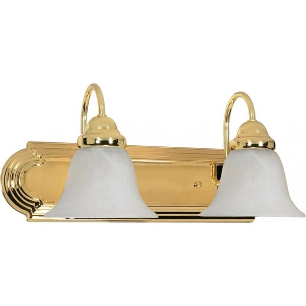 "Nuvo Lighting 60/328 Ballerina 2 Light 18"" Wide Vanity Light with Alabaster Glass Shades"