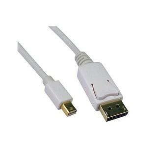 Offex Mini DisplayPort 1.2 Video Cable, Mini DisplayPort Male to DisplayPort Male, 6 foot