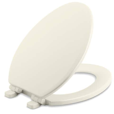 Kohler K-20454 Ridgewood Elongated Molded Wood Toilet Seat with