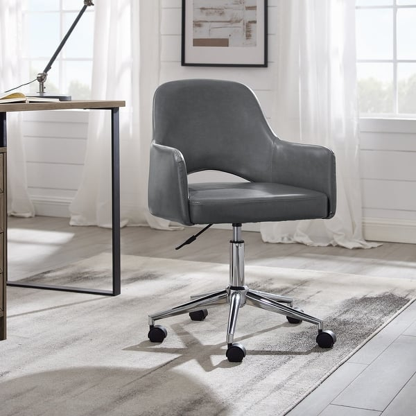 Shop Art Leon Open Back Swivel Home Office Chair With Caster Overstock 31673332