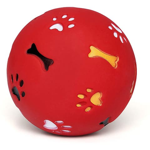 Dog Chew Squeaker Ball Friendly Safe Soft Rubber Ball Toy for Dogs