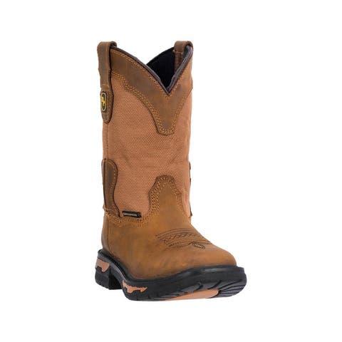 Dan Post Western Boots Boys Everest Waterproof Square Toe Tan